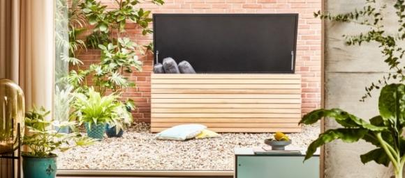 nowoczesna skrzynia ogrodowa; wytrzymała skrzynia ogrodowa; funkcjonalna skrzynia ogrodowa;